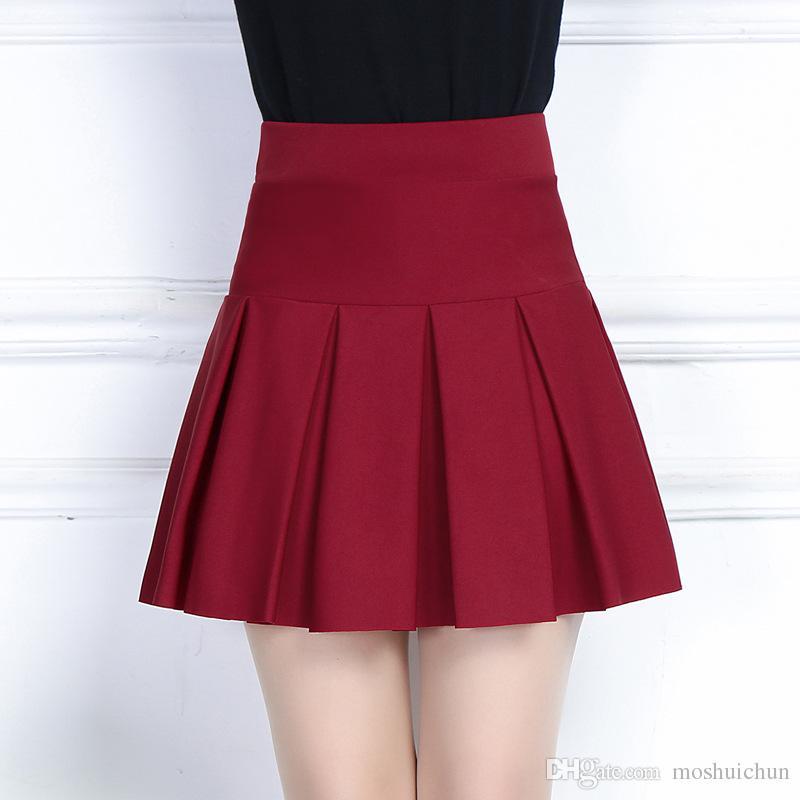 2017 New Fashion A Line Skirts Womens High Waist Skirts Knee ...
