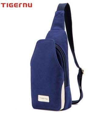 2016 Tigernu Authentic Backpack Men's chest pockets bag canvas messenger bag Korean version of casual men's summer small man bag chest pack