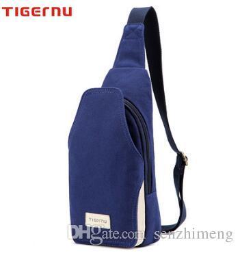 NEW Tigernu Authentic Backpack Men's chest pockets bag canvas messenger bag Korean version of casual men's summer small man bag chest pack