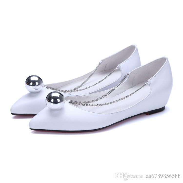 Herbst Wohnungen Frauen Point Toe Casual Aufzug Schuhe für Damen