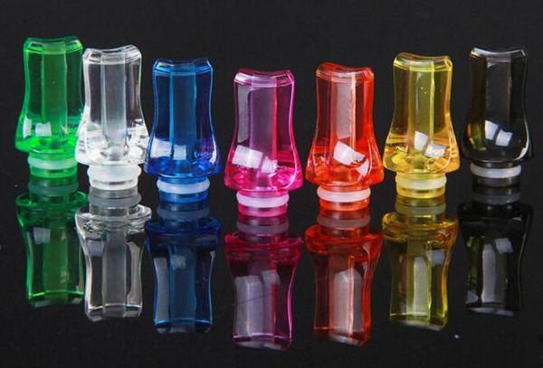 Colorido plástico Drip Tip 510 Drip Tip plana Boca Boquilla Drip Tip Tip transparente goteo colorido para el ego atomizador Ego batería