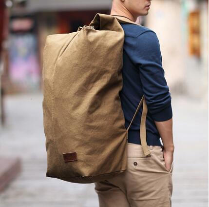 Muzee Huge Travel Bag Large Capacity Men Backpack Canvas Weekend ...
