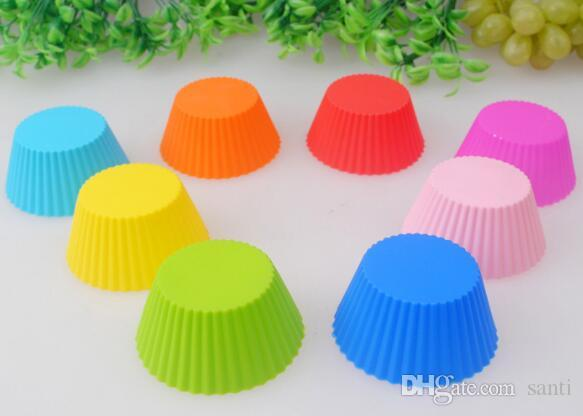 Siliconen Muffin Cake Cupcake Cup Cakevorm Case Bakvormen Maker Mold Lade Bakken Jumbo