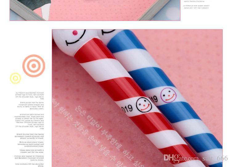 Frete grátis whiilesale guarda-chuva dos desenhos animados engraçado rosto palhaço caneta esferográfica Presentes de natal Boneco de neve de Natal caneta esferográfica cap atacado