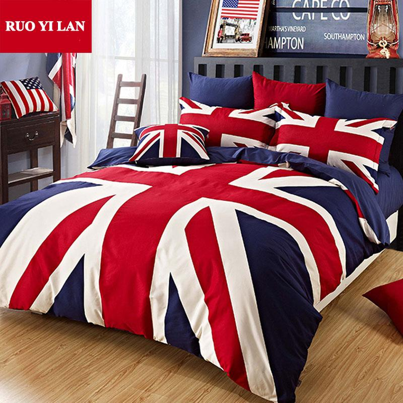 100 cotton union jack duvet cover set the union flag pillowcase bed sheet queen for adults. Black Bedroom Furniture Sets. Home Design Ideas