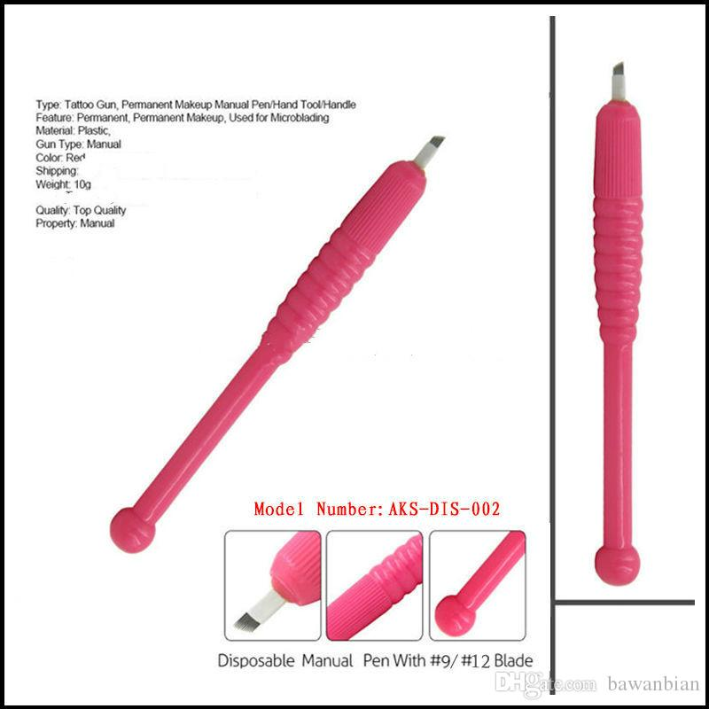 DHL Disposable embroidery pen with needles 9/12/18U pins top quality eyebrow lip eyeliner makeup tattoo machine