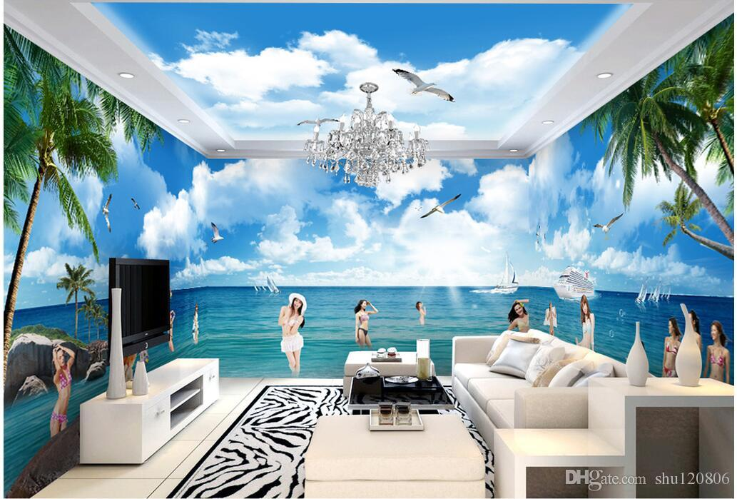 3d Room Wallpaer Custom Mural Photo The Sexy Bikini Beauty