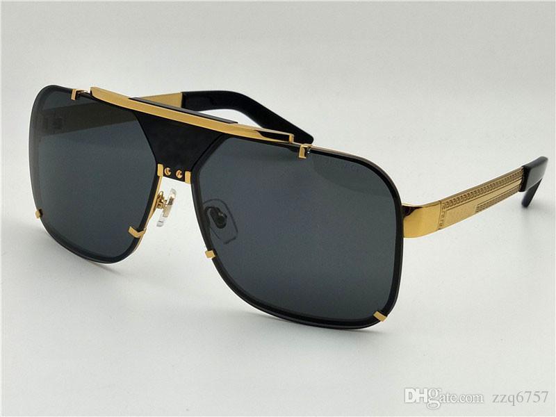 86f564c847 New Men Vintage Designer Sunglasses Retro Design Big Face Logo 2133 Square  Frame Rimless UV400 Lens Top Quality Steampunk Style With Box Reading  Glasses ...