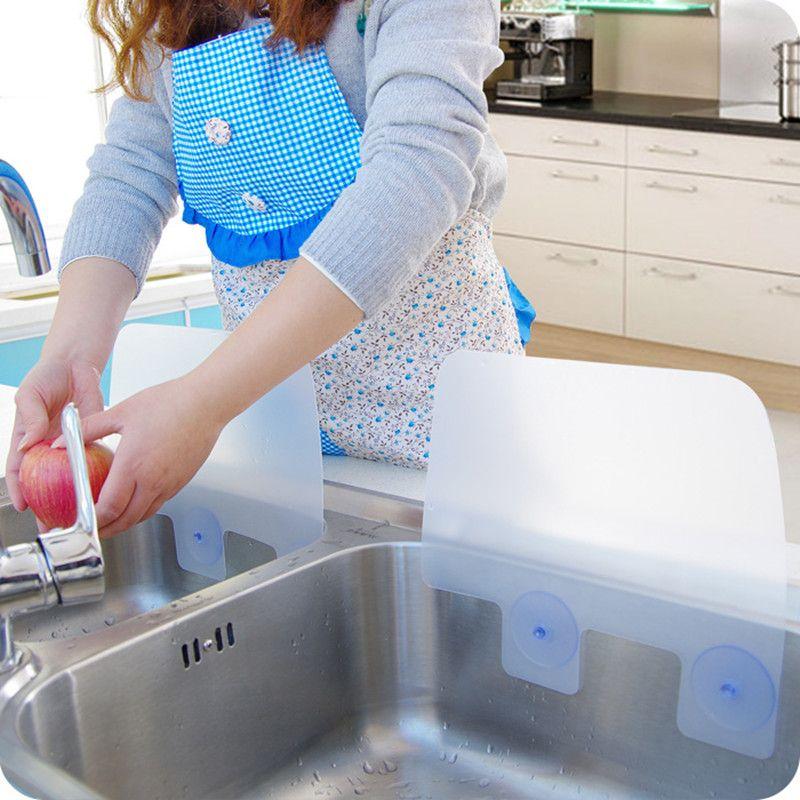 Merveilleux 2018 2 CREATIVE HOME DRY KITCHEN WASH BASIN SUCKER VACUUM CUP SINK PLASTIC  WATER ANTI SPLASH SPATTER GUARD DISH WASHING SPITTING BAFFLE BOARD From ...