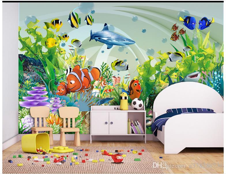 Papel pintado de la foto 3D personalizado murales de pared wallpaper mural belleza Dream Underwater World Kids House papel pintado de la pared decoración de la sala de estar