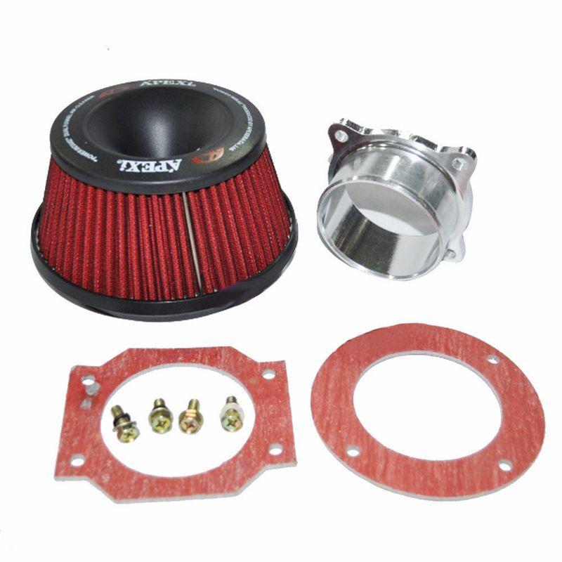 New Apexi Universal Kit Filtro aria aspirazione automatica 76mm Adattatore doppio imbuto Utile