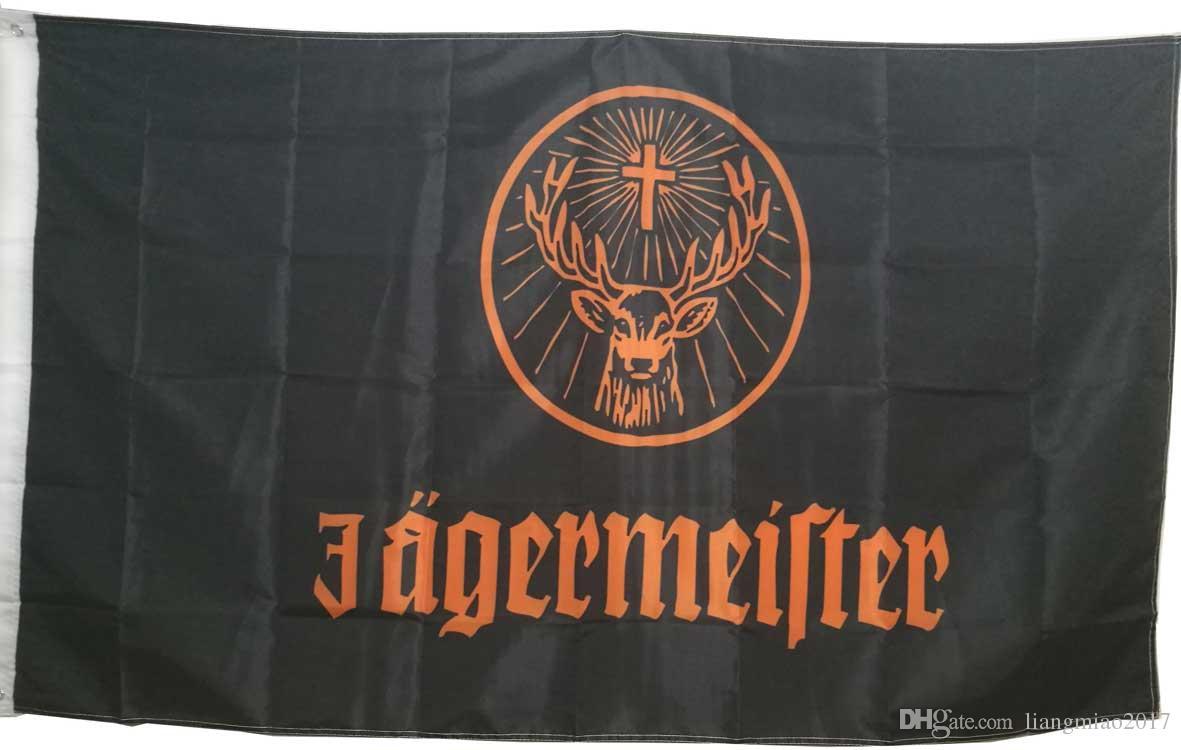 Deer Head Flag Banner für Jagermeister Decorative Flags und Banners 3x5 feet