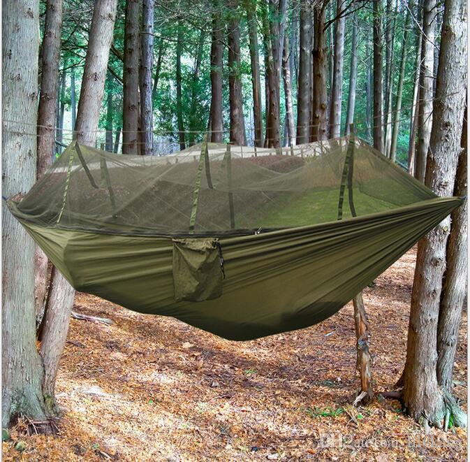 2018 outdoor camping parachute survival hammocks with mosquito   portable garden swing bed hammocks hanging beds hiking double hammock from kangdan     2018 outdoor camping parachute survival hammocks with mosquito        rh   dhgate