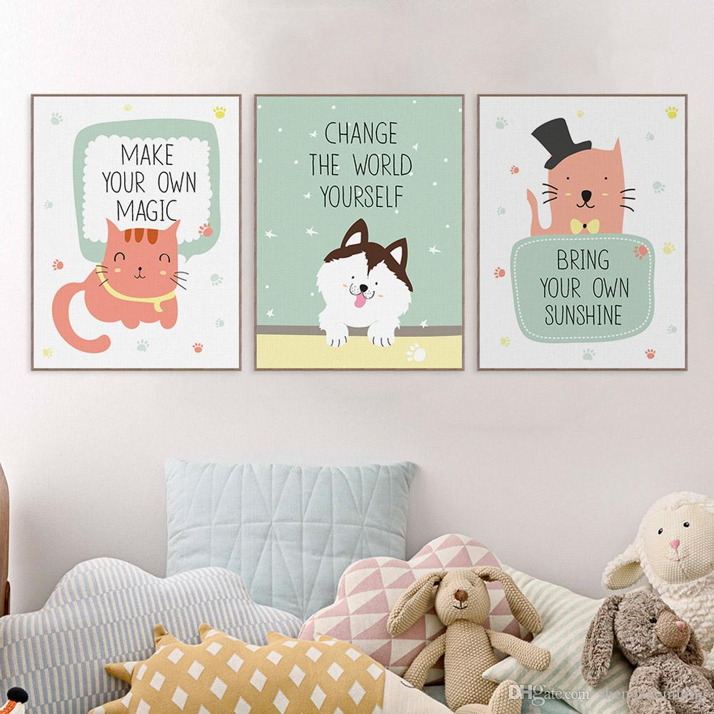 Canvas Prints For Baby Room. DIY Hand Painted Nursery Wall Art ...