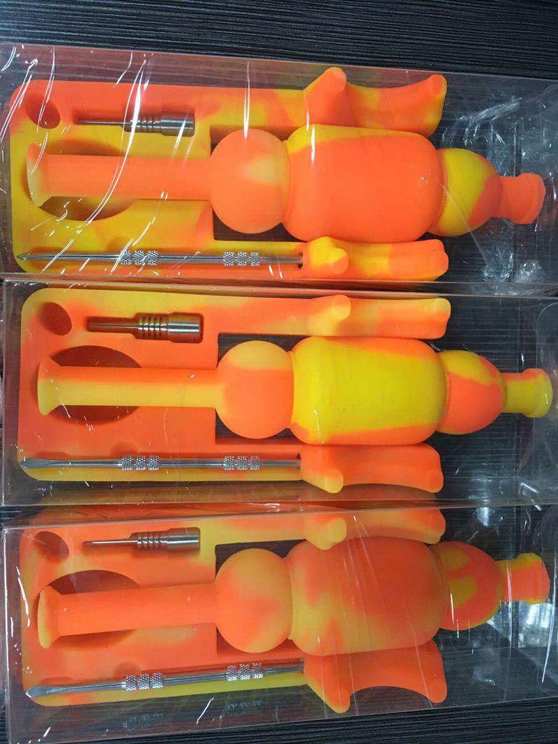 Date Nectar Silicone Bongs collecteur de nectar de silicium avec 14mm joint Ti Nail Nector collecteur plates-formes pétrolières Micro NC Verre d'eau de verre DHL livraison