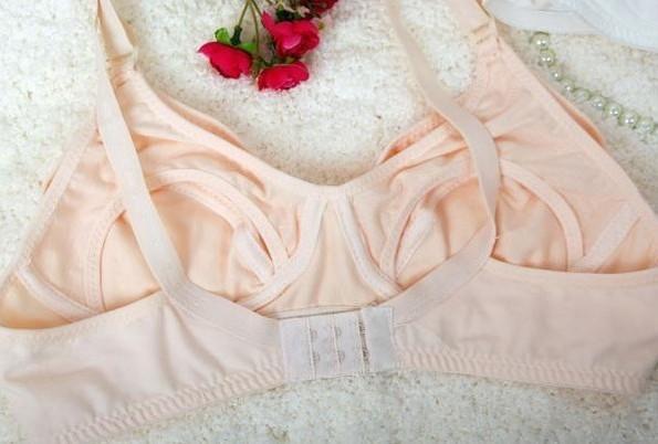 100% algodão sutiã de maternidade estágio sem fio sutiã de amamentação abertura frontal fivela copo cheio sutiã de amamentação cueca rosa nude