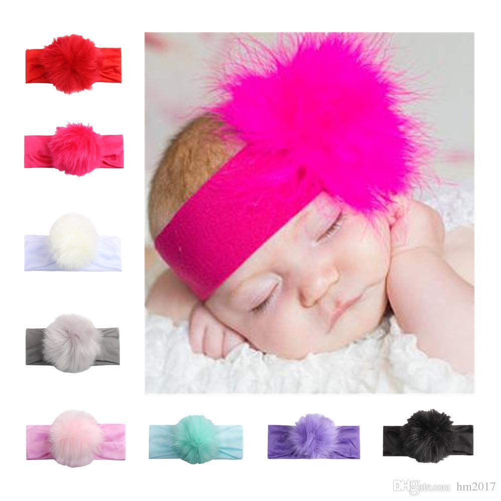 Kinder Baby Mädchen Mode plüsch ball Stirnband haarbänder Kinder Mädchen hochzeit Haarschmuck Prinzessin Headwear