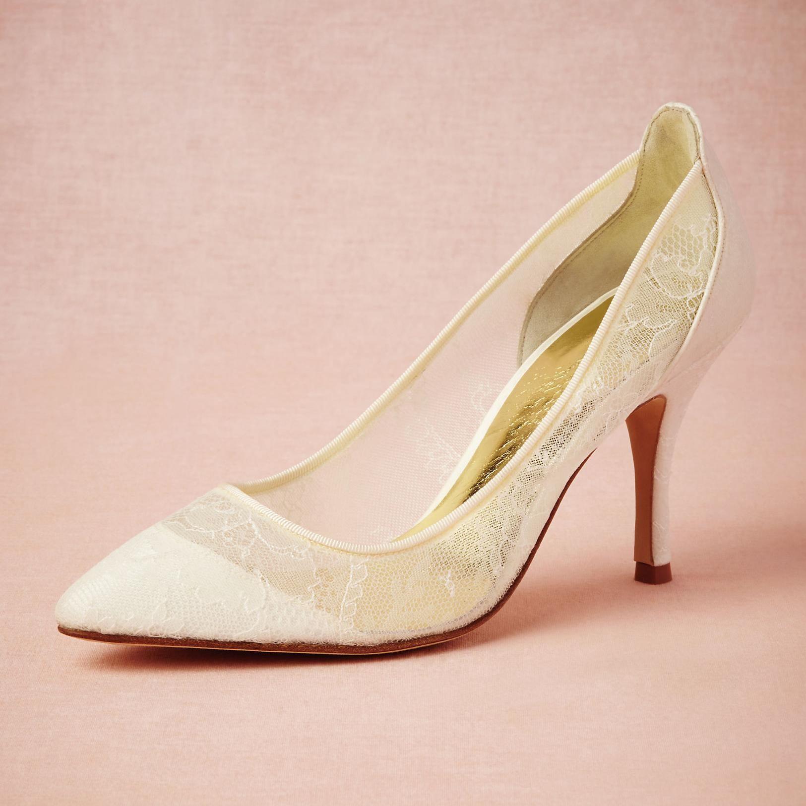 b6c9fa543166 Handmade Lace Wedding Shoes Transparent Pointed Toe Specter Heels Party  Dance Pumps Sandals 3 Kitten Heels Designer Bridal Pump Shoes Bridal Shoes  High ...