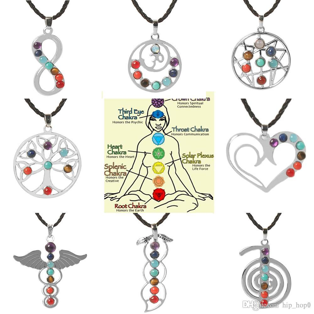 Wholesale love heart infinity wings seven beads natural quartz wholesale love heart infinity wings seven beads natural quartz gemstones stone pendant necklace meditation healing point chakra reiki pendent necklace aloadofball Choice Image