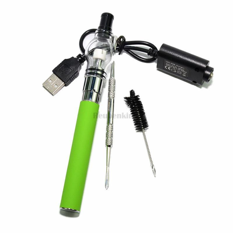 2016 New Hot Glass atomiseur kit cire sèche herbe atomiseur vaporisateur stylo cas cigarette électronique verre globe atomiseur réservoir ego kit DHL