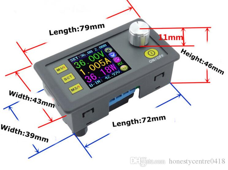 DP50V5A Régulateur De Tension Réglable Tension constante Courant abaisseur Module d'alimentation Voltmètre LCD couleur