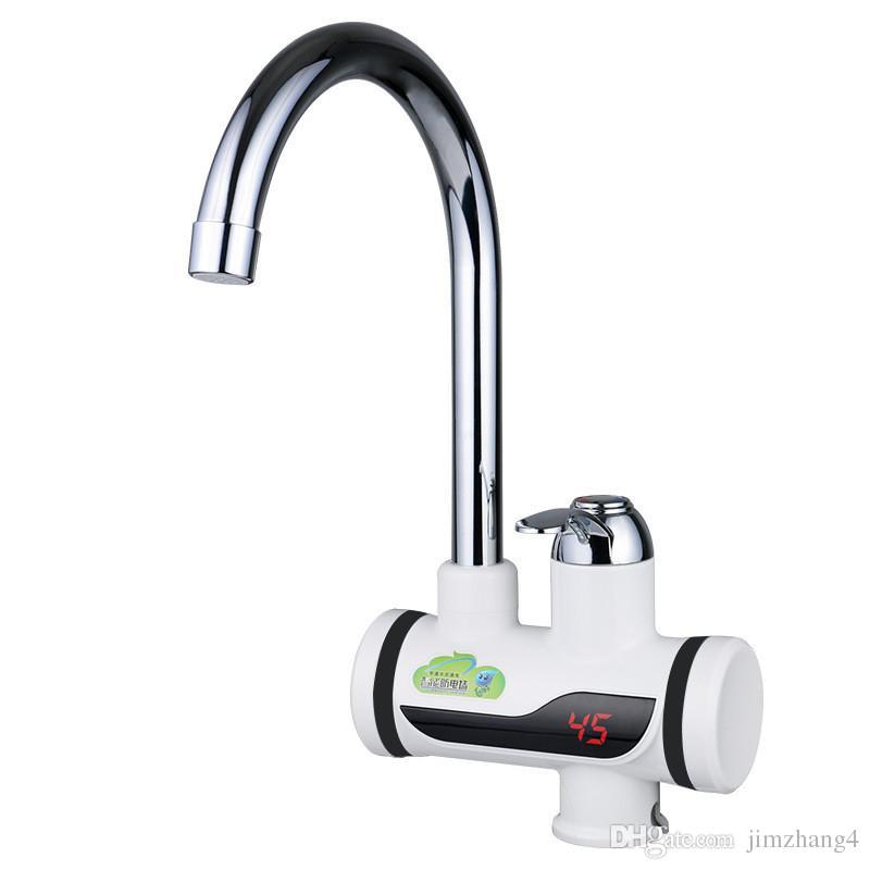 BD3000W-1, frete grátis, Digital Display Instantâneo Torneira De Água Quente, Tankless Torneira Elétrica, Cozinha Torneira Aquecedor De Água