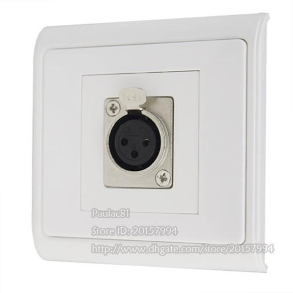 Hohe Qualität Mikrofon XLR 3Pin Weibliche Canon Modul Single-Port Stecker Einbausteckdose Für Wand Platte / Freies Verschiffen / 1 STÜCKE