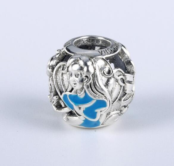 70534d273 925 Sterling Silver Bead Charm Bead Alice Classic Mad Hatter's Tea Party  Beads Fit Women Pandora Bracelet Bangle DIY Jewelry Diy Sterling Silver  Pandora ...