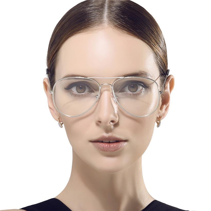 2018 Wholesale Fashion Vintage Women Eye Glasses Frames Mirror Metal ...