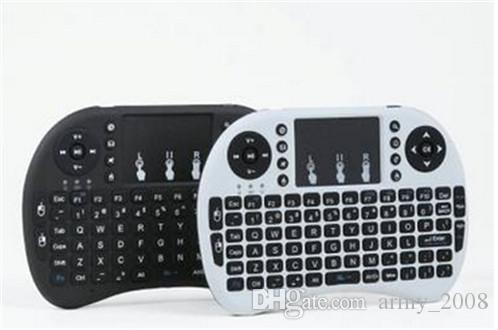 Teclado sem fio RII teclados i8 Fly Air Mouse Multi-Media Remote Control Touchpad Handheld para caixa de TV Android Mini PC