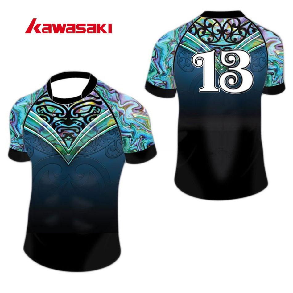 c687244fc 2019 Wholesale 2017 New Kawasaki Bola De Futebol Americano Custom Rugby Soccer  Jersey OEM Women  Men Rugby Practice Tops Shirt Jerseys From Brandun