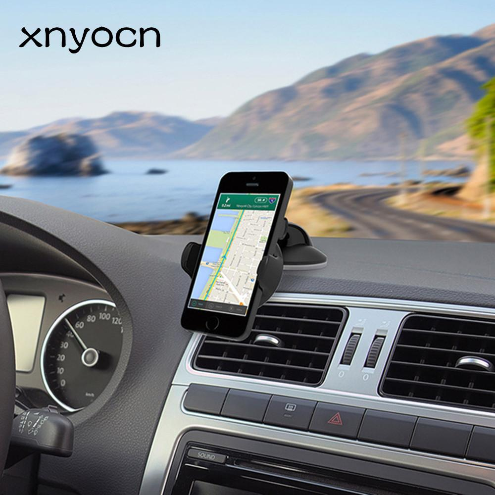 2018 luxury car phone holder car dashboard mount stand gps bracket 360 rotate adjustable holder for iphone 5s 6 plus under 6 phones from xnyocn01