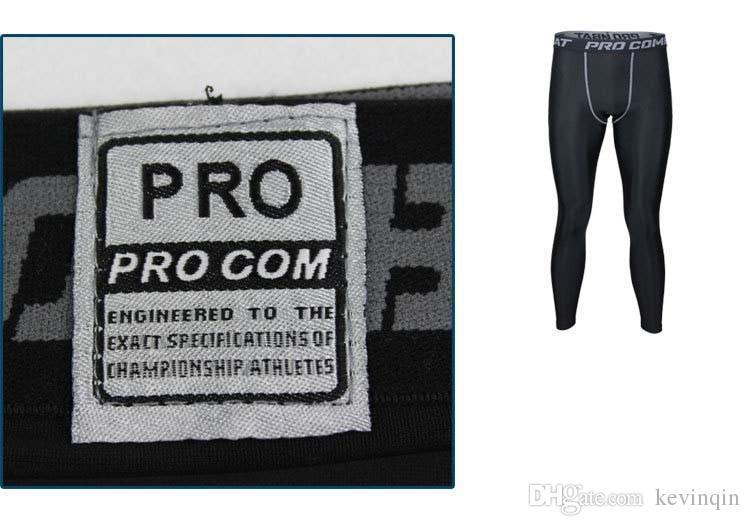NOUVEAU 2018 collant sport pantalon de basket-ball de combat professionnel remise en forme pour hommes séchage rapide pantalon de course à pied compression GYM Joggers pantalon slim