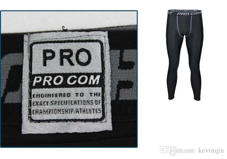 NUEVO 2018 Medias deportivas Pro Combat Basketball Pants Fitness para hombres Pantalones de secado rápido Ejecución Compresión GYM Joggers Skinny Pants