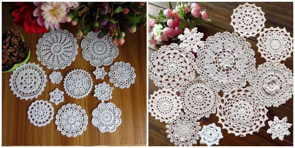 2018 Wholesale 24 Patterns 100% Cotton Hand Made Crochet Doilies Cup ...