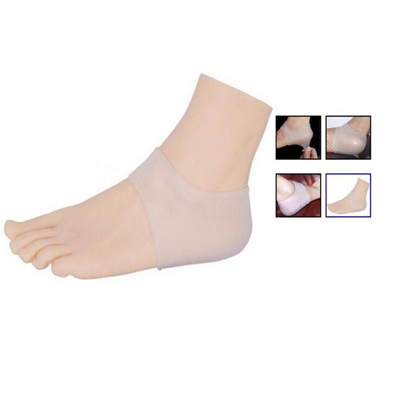 Calcetines Nuevo Silicona Gel Hidratante Talón Calcetín Agrietado Pie Cuidado de la piel Protector Regalo de Navidad
