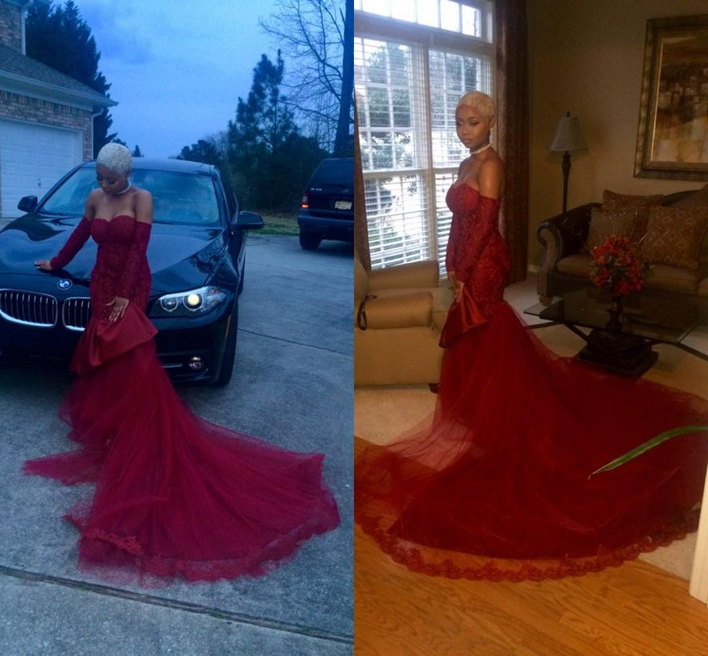 Red Mermaid Prom Dress From PromGirl