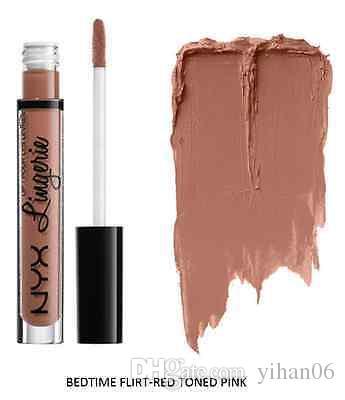 2016 NYX lip lingerie liquid Matte Lip Cream Lipstick NYX Charming Long-lasting Brand Makeup Lipsticks Lip Gloss DHL