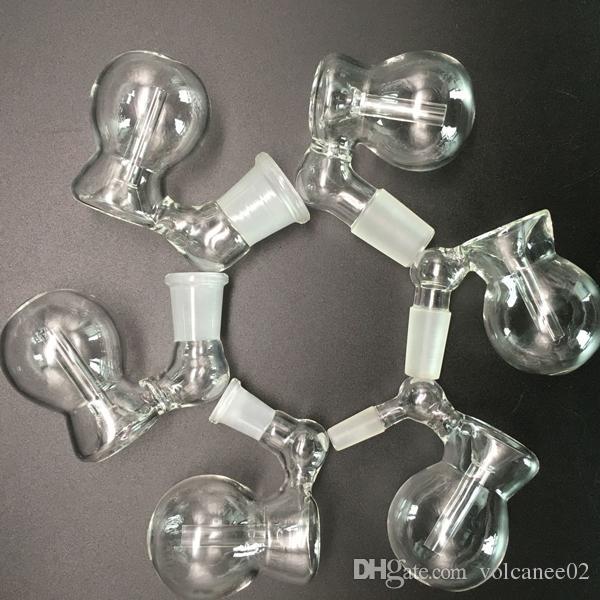 Narguilé-cendres en verre pour bangs 18mm 14mm adaptateur mâle femme épaisse bol cendrier cendré cendrier