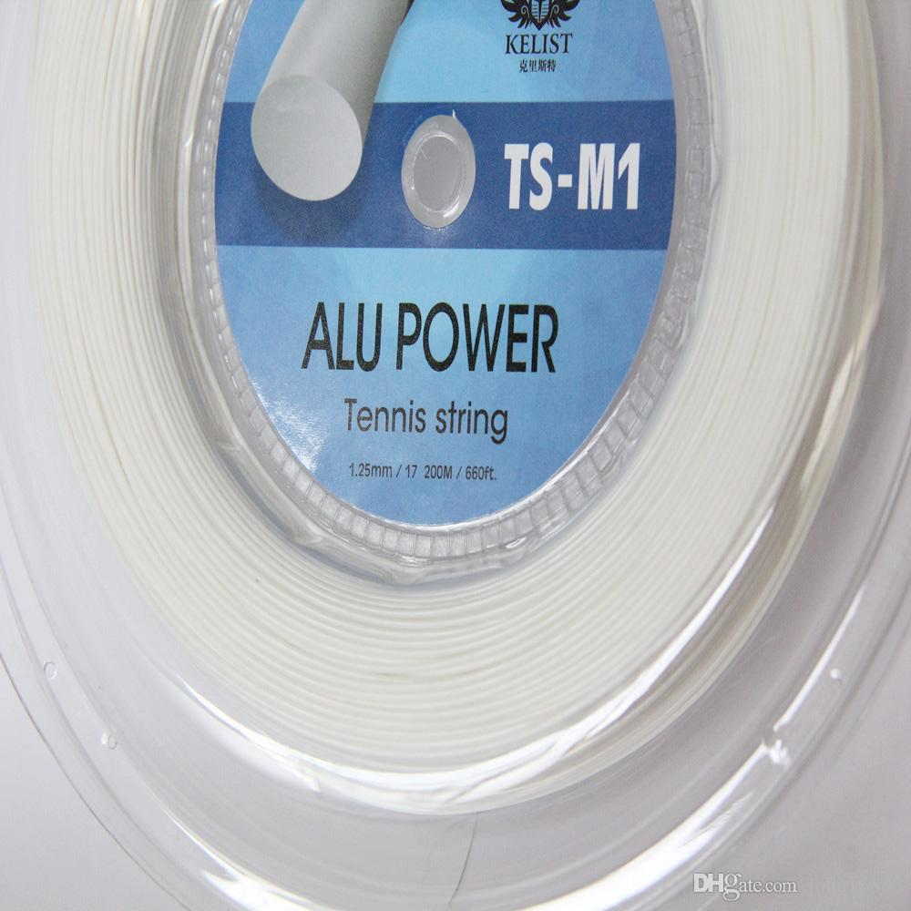 Бесплатная доставка -Guage 17L/1.25 мм КЕЛИСТ Алу мощность новый теннис строка полиэстер строка теннисная ракетка строка 200 метров