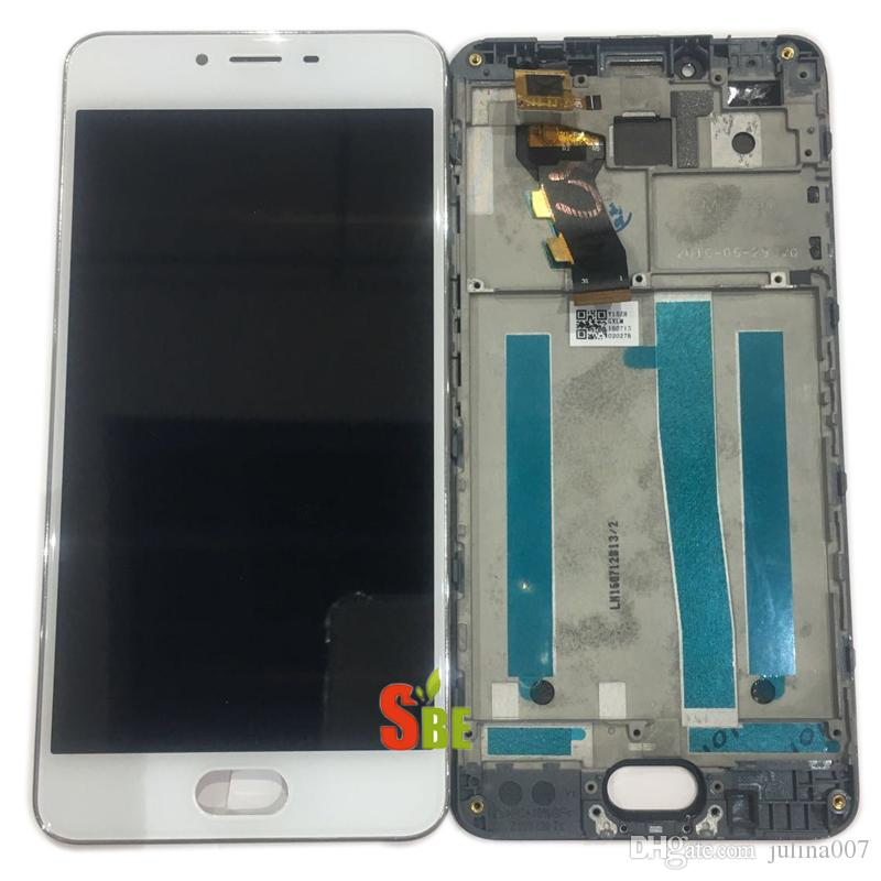 High Quality New LCD Display +Digitizer Touch Screen Assembly For Meizu M3S mini Meilan 3S Cellphone Black White Gold With Frame