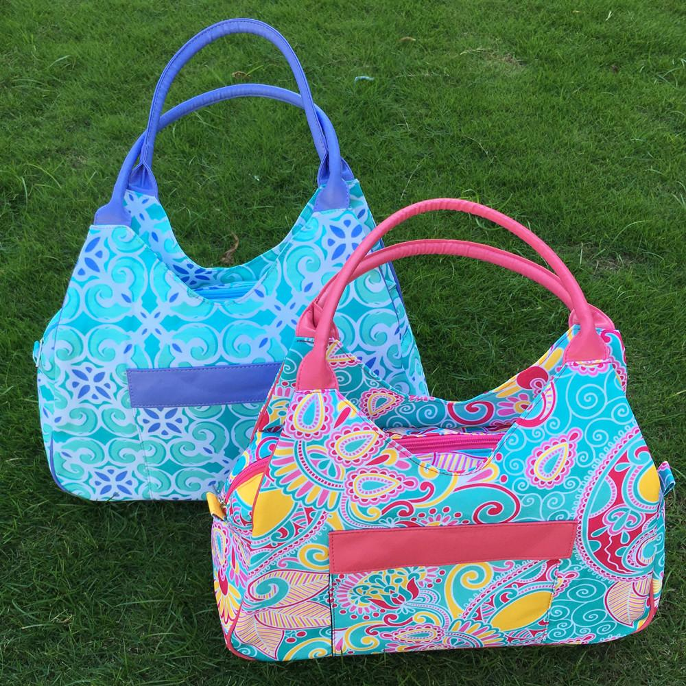 4bfa8178a35 Wholesale BLANKSMALL Printed Colorful Inspired Beach Tote Bag Canvas  Material Large Tote Paisley Tile Pattern Shoulder Bag DOM109338