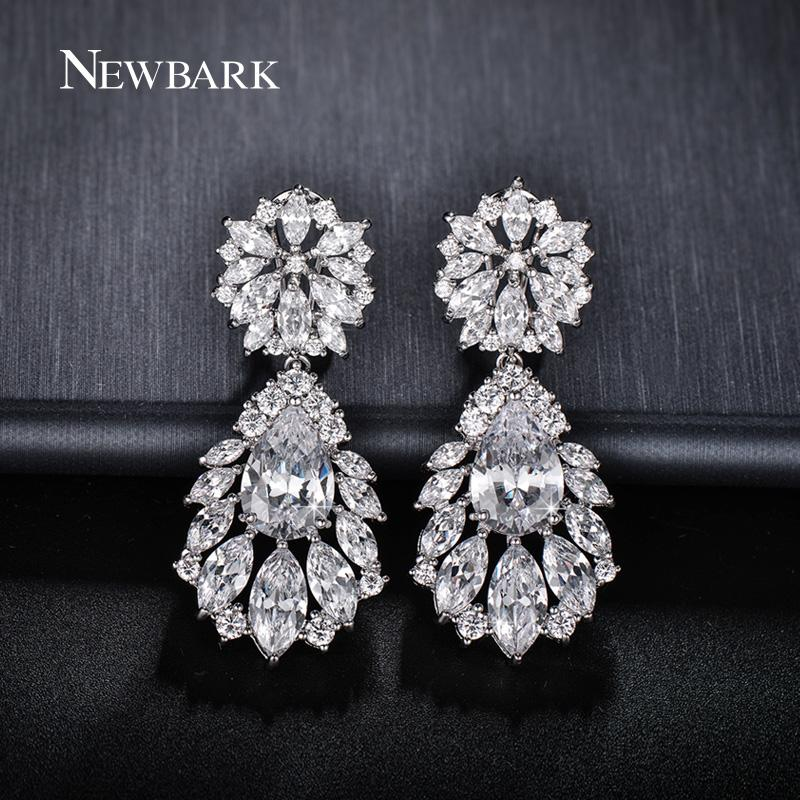 NEWBARK Luxurious Bride Statement Earrings With Cubic Zirconia Wedding  Pageant Women Water Drop Luxurious Best Quality Earring Q170720 High  Quality ... f8cfc2f546ab