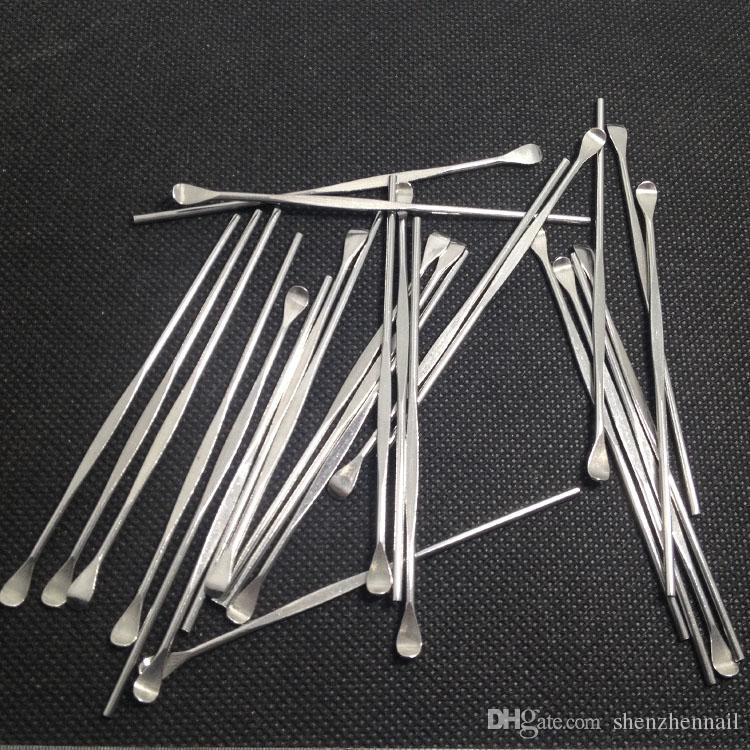 Хорошее ремесло короткий dab инструмент сухой травы / воска пара стали Dabber хор и копать dab инструмент Epacket бесплатно 50 шт.