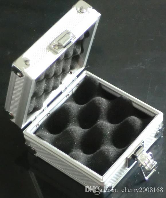 gros argent machine de tatouage Boîtier en alliage d'aluminium de cas boîte pour pistolet de tatouage kit d'alimentation Machines