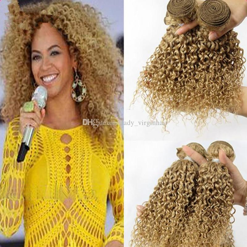 Honey Blonde Malaysian Deep Curly Hair Bundles 8a 100 Human Hair