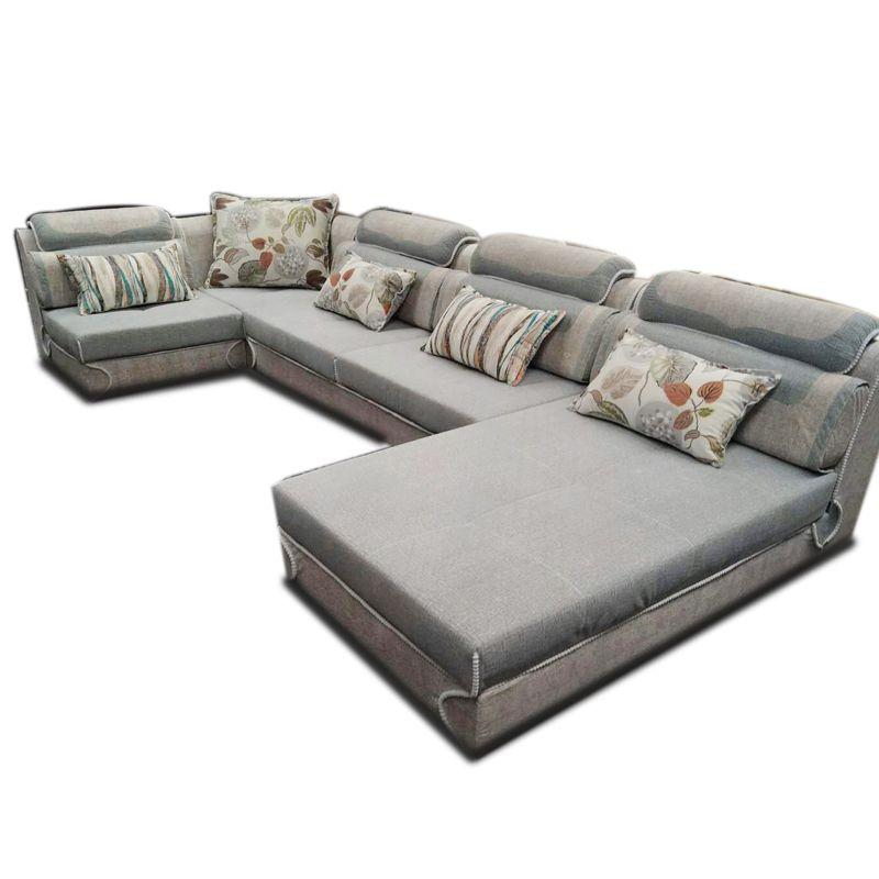 4*1.8m 4 Seats Sofa Classic Couch Larch Bracket Soft Linen Cloth ...