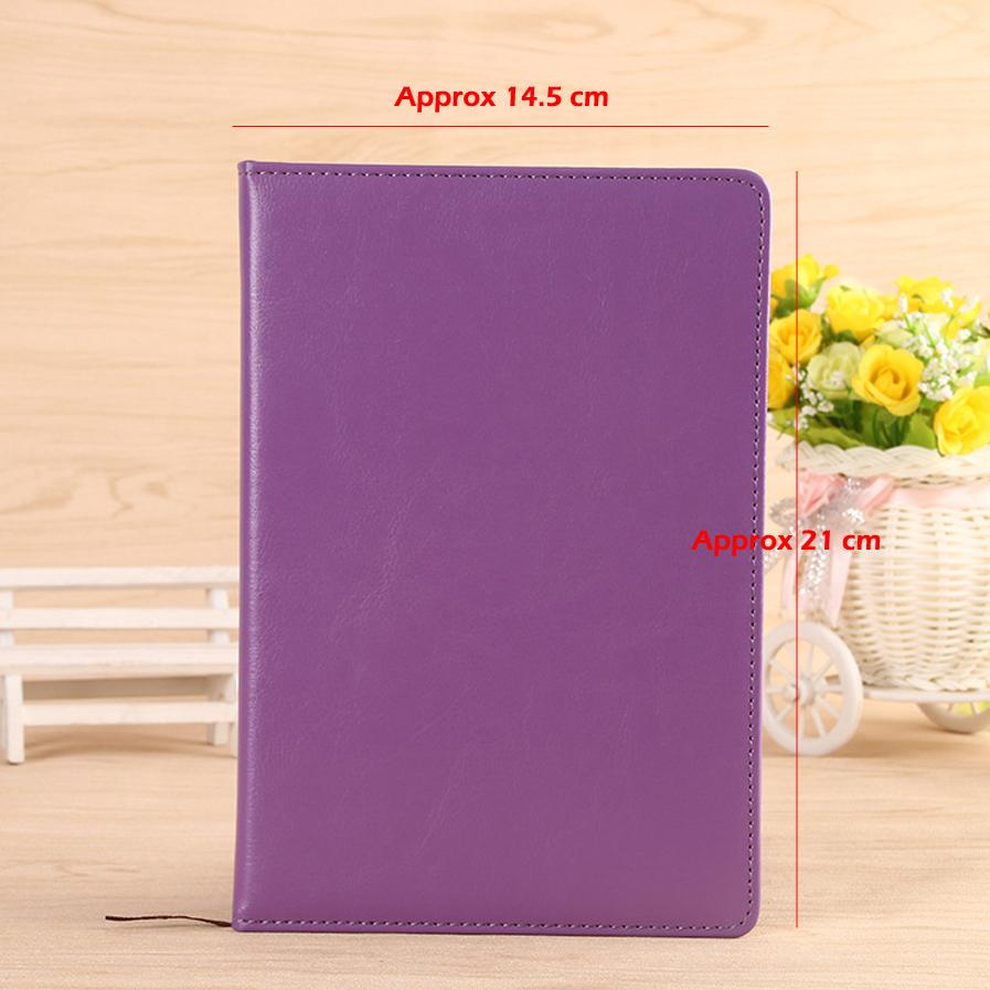 A5 Classic Notebook, PU Leather Hard Cover Diary Business Notepad, 100 Sheets note book