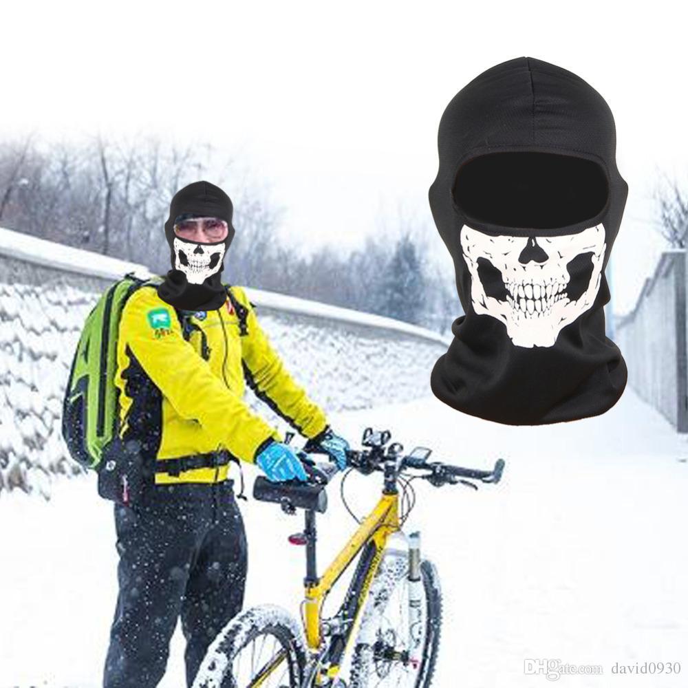 e64ef225499 3D Skull Bike Mask Full Face Protective Sports Face Training Mask for  Outdoor Running Riding Skateboard Ski Riding Balaclava Masks Cycling Caps  Cycling ...