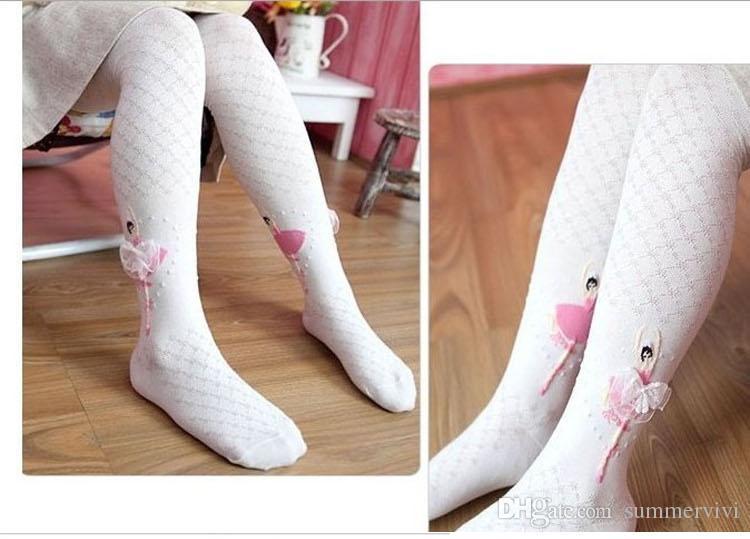 Girls Pantyhose Autumn Girls dance ballet leggings kids pants baby cotton plaid leggings princess socks A9460